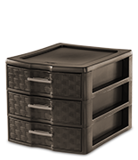 Medium Weave 3 Drawer Unit  sc 1 st  Sterilite & Sterilite - Home: Drawers