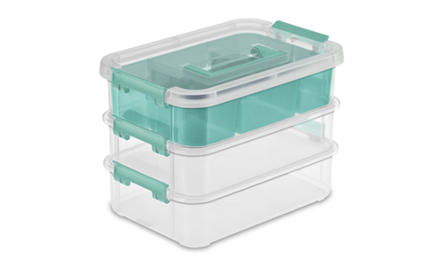 1413 - Stack & Carry 3 Layer Handle Box & Tray