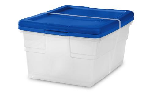 1645 - Set of (2) 16 Quart Storage Boxes