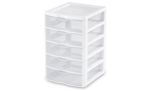 2075 - Small 5 Drawer Unit