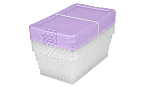 1643 - Set of (5) 6 Quart Storage Boxes