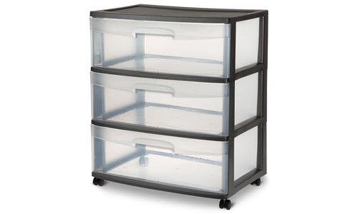 2930 - Wide 3 Drawer Cart