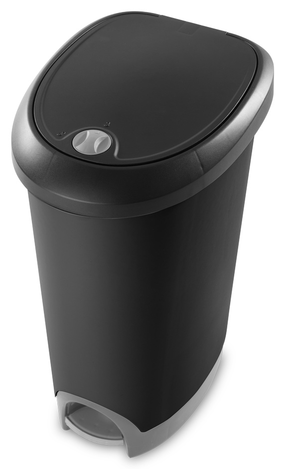 1073 12 6 Gallon Locking Stepon Wastebasket