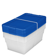 Set of (5) 6 Quart Storage Boxes