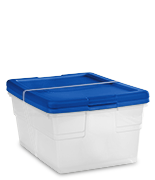 Set of (2) 16 Quart Storage Boxes