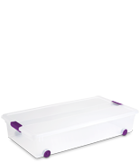 60 Quart ClearView Latch™ Wheeled Underbed Box