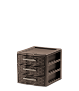 Small Weave 3 Drawer Unit