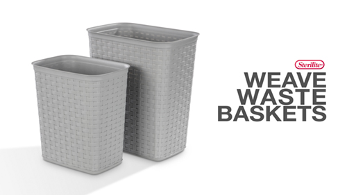 1034 - Weave Open Wastebaskets