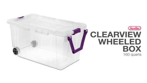 160 Qt. Wheeled Storage Box