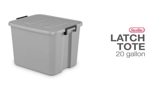 20 Gallon Latch Tote