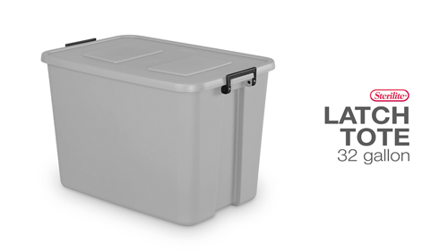 32 Gallon Latch Tote