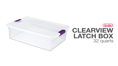 32 Quart ClearView Latch™ Box