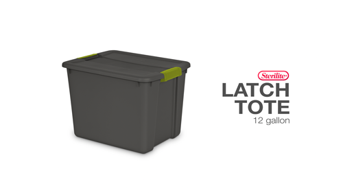 12 Gallon Latch Tote