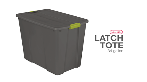 34 Gallon Latch Tote