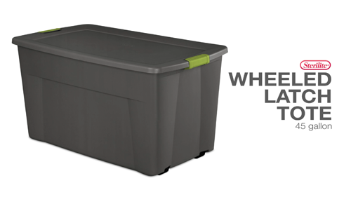 45 Gallon Wheeled Latch Tote