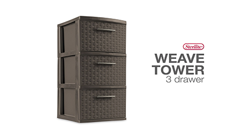 3 Drawer Weave Tower